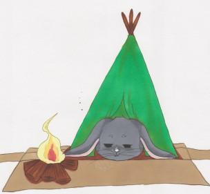 Galipette fait du camping !